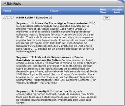 MSDNRadioEpisodio36