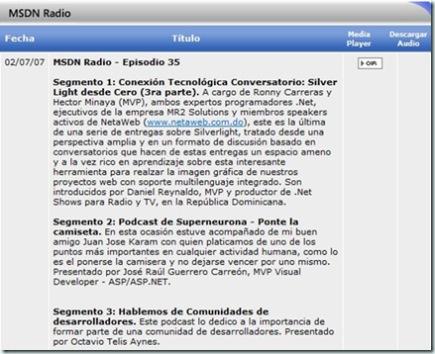 MSDN Radio 35